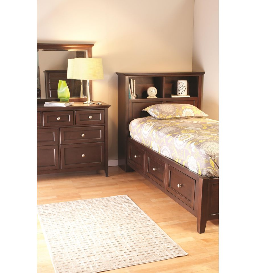 Simple Bennett Fullsize Bookcase Bed With Storage  Overstock Shopping