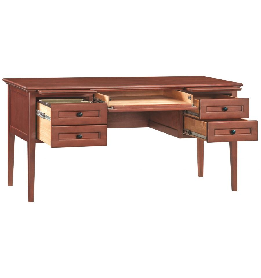 60 Inch Mckenzie 4 Drawer Desks Bare Wood Fine Wood