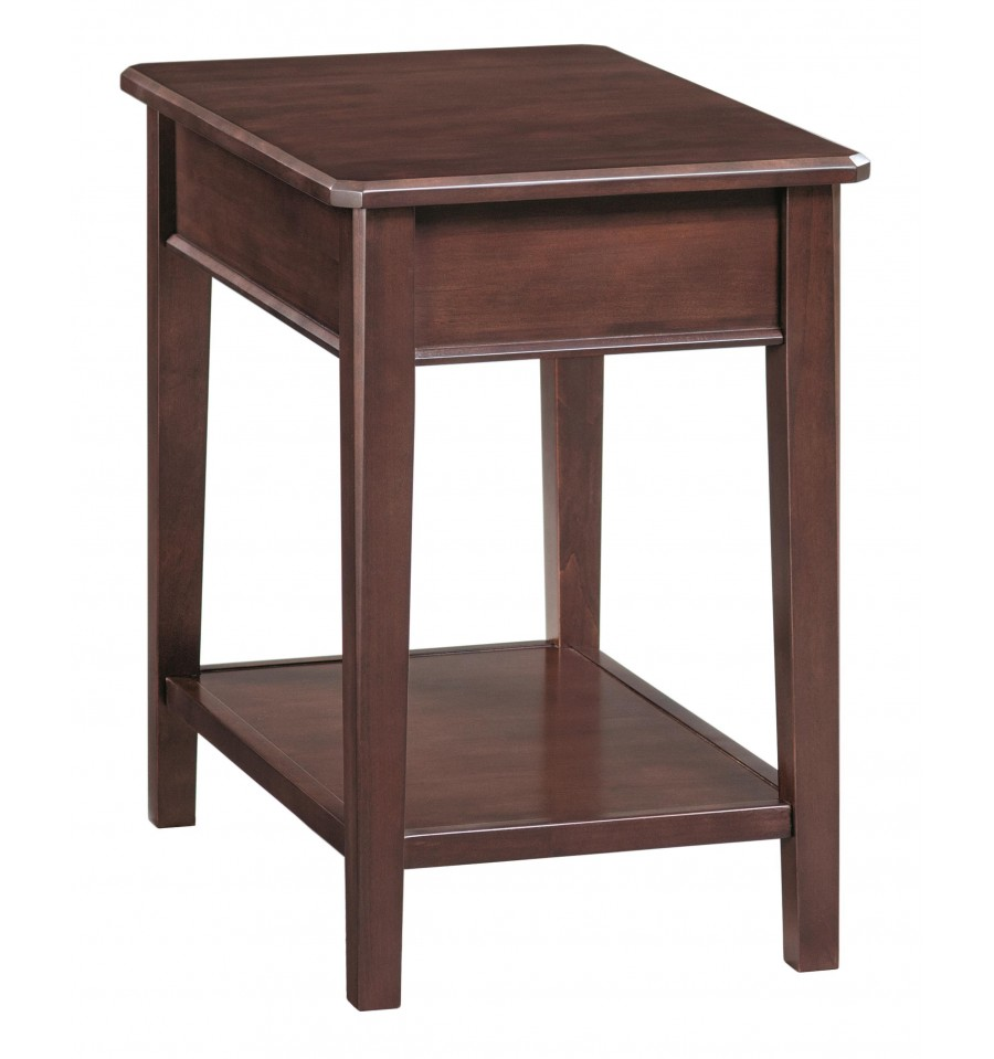 16 inch stayton chair side tables bare wood fine wood for Coffee tables 16 inches high