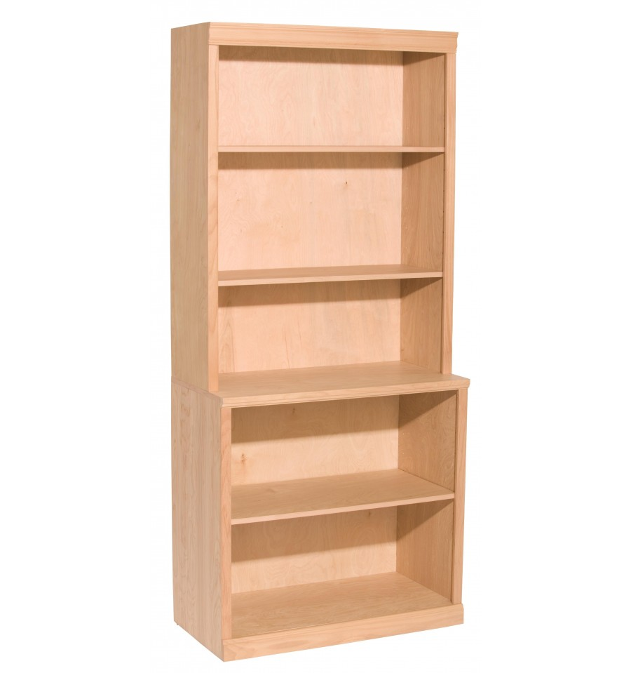 7 inch bookcase bush open single bookcases 17 7 8 for Hohes bettgestell 180x200