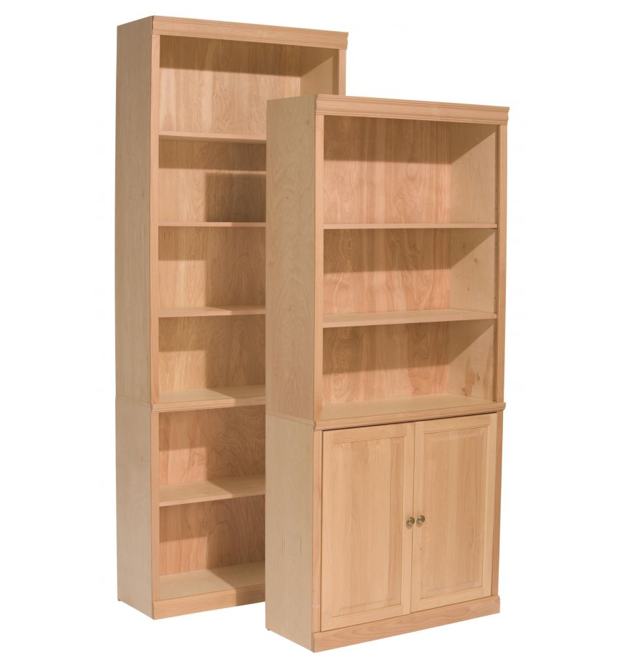 [32 Inch] Classic Bookcase 84H - Bare Wood Fine Wood ...