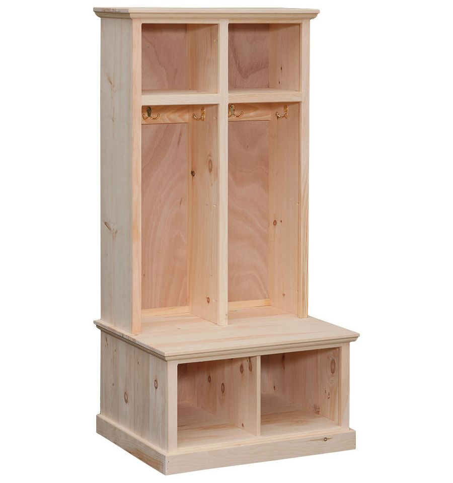 Entryway Utility Room Mud Room Storage Solutions Bare Wood