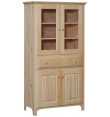 [38 Inch] Washington Pantry with Glass