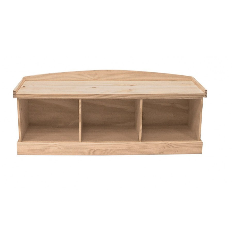 50 Inch Entry Bench Bare Wood Fine Wood Furniture