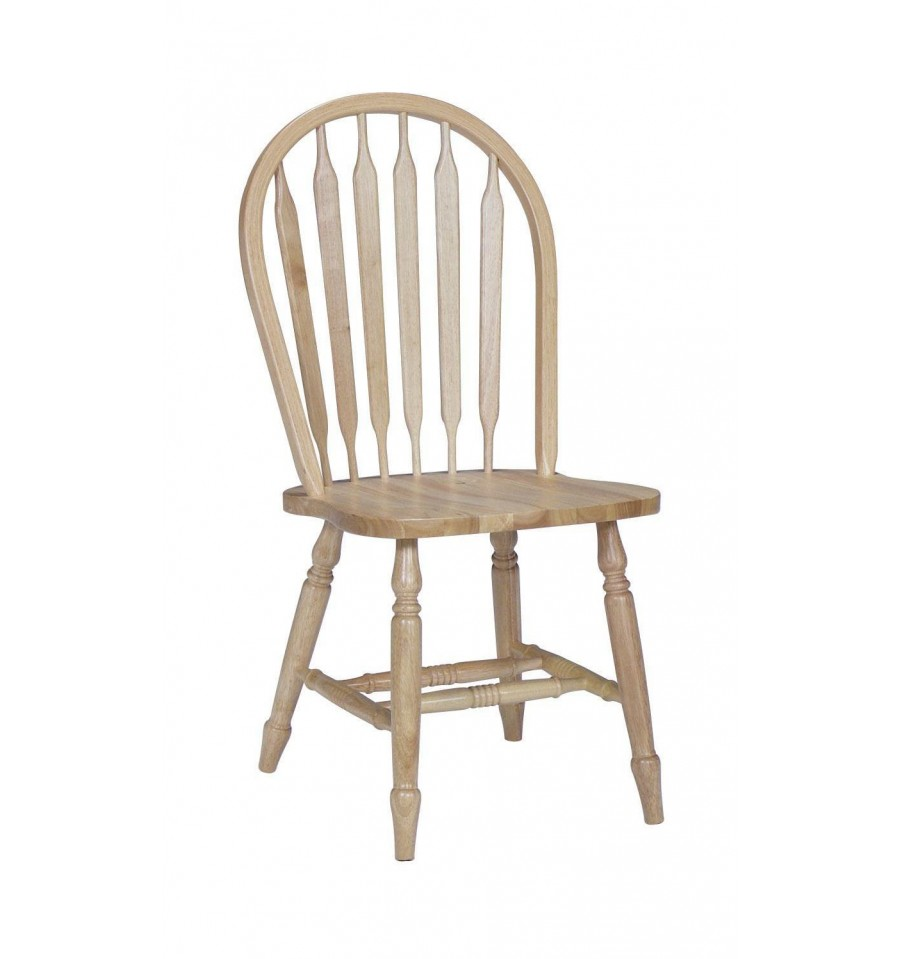 Black And Natural Windsor Chairs