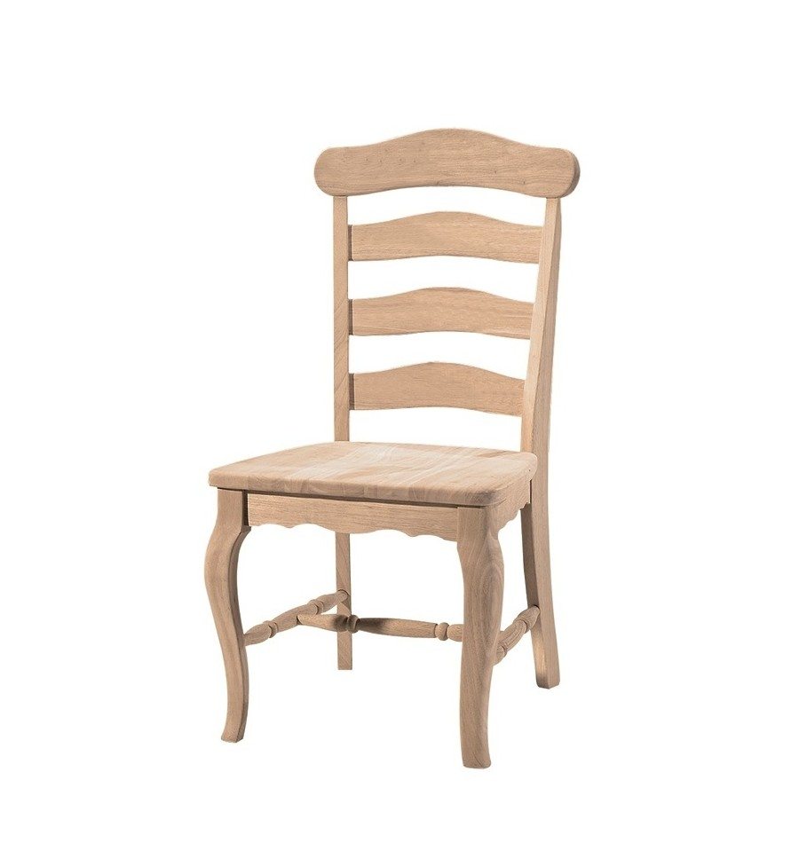 Country French Ladderback Side Chairs Bare Wood Fine Wood Furniture Groton Ct