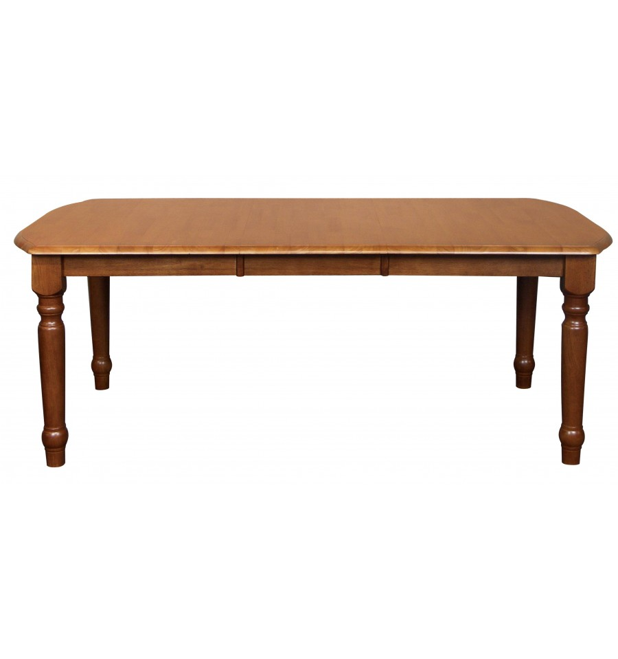 [78 Inch] Farmhouse Extension Dining Tables Bare Wood Fine Wood Furniture