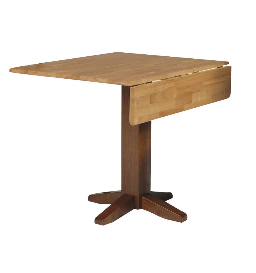 36 Inch Square Dropleaf Dining Table Bare Wood Fine Wood Furniture Grot