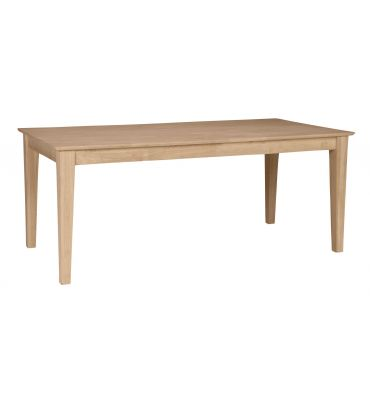 [36x72 Inch] Shaker Solid Dining Table