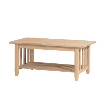 Awe Inspiring 42 Inch Mission Coffee Table Bare Wood Fine Wood Lamtechconsult Wood Chair Design Ideas Lamtechconsultcom