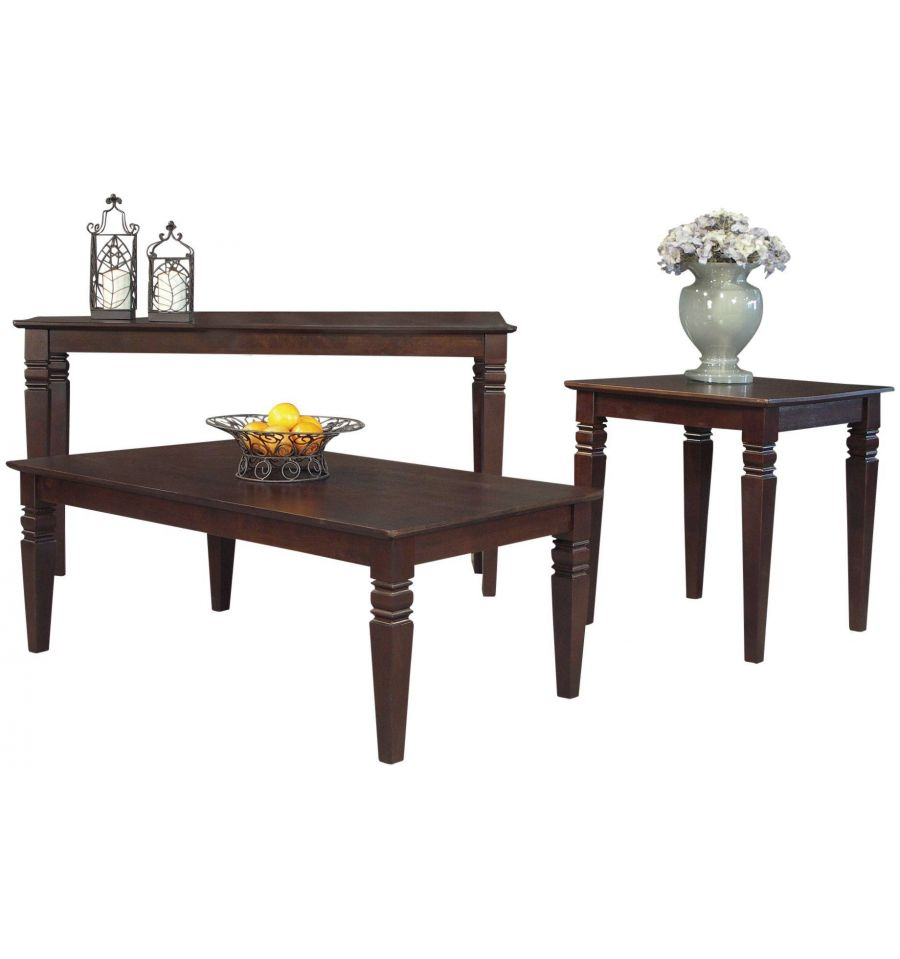 36 Inch Java Square Coffee Tables Bare Wood Fine Wood