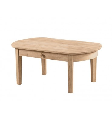 Tremendous 42 Inch Phillips Oval Coffee Table Bare Wood Fine Wood Lamtechconsult Wood Chair Design Ideas Lamtechconsultcom