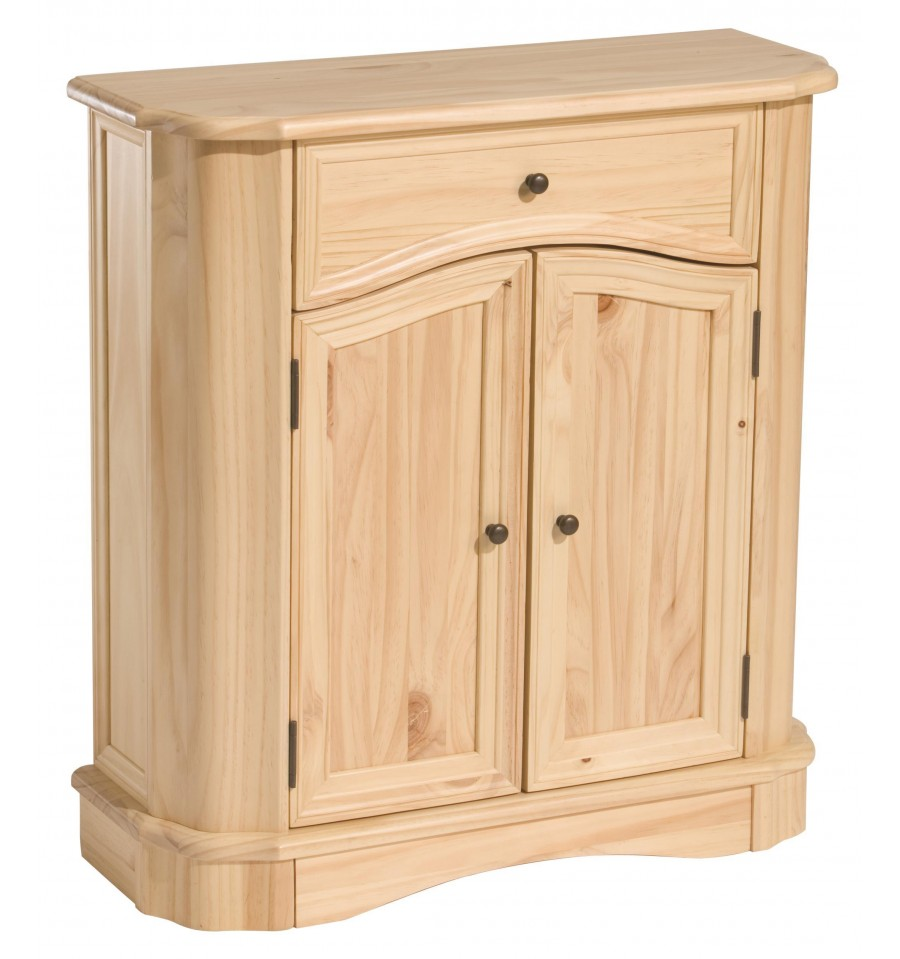27 Inch Bedford Cabinet Bare Wood Fine Wood Furniture