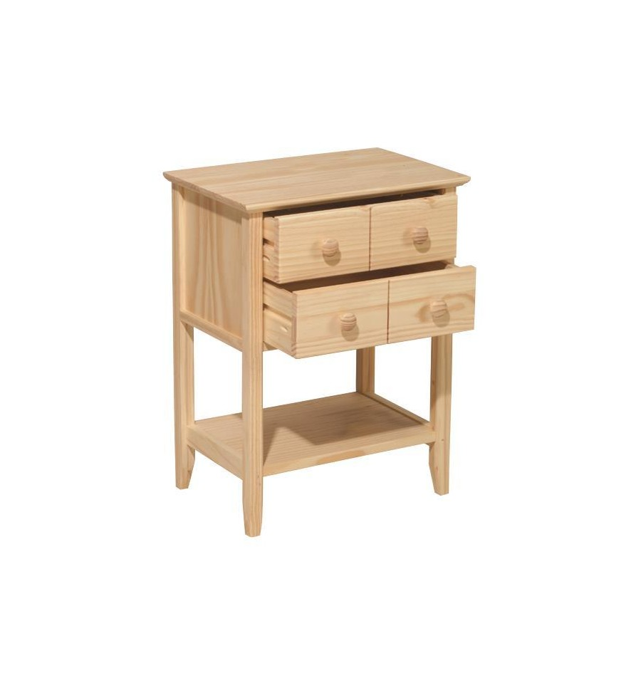 19 Inch Seneca Side Table Bare Wood Fine Wood