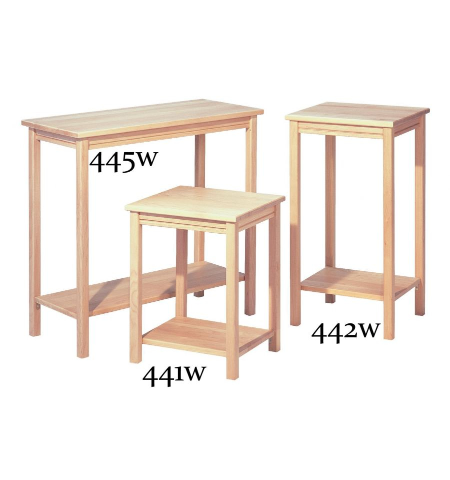 16 inch side table 29h bare wood fine wood furniture for Coffee tables 16 inches high