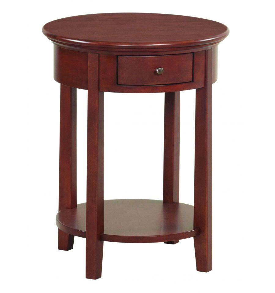 20 inch mckenzie round side tables bare wood fine wood for Occasional tables