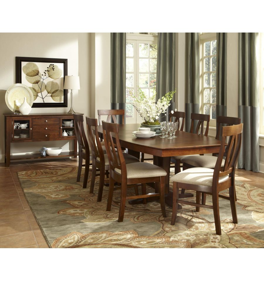 96 Inch Milano Dining Table Bare Wood Fine Wood Furniture Groton Ct