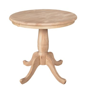 [30 Inch] Classic Round Table - Unfinished