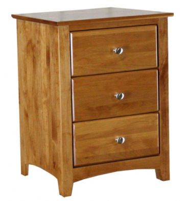 [23 Inch] Alder Shaker 3 Drawer Nightstand
