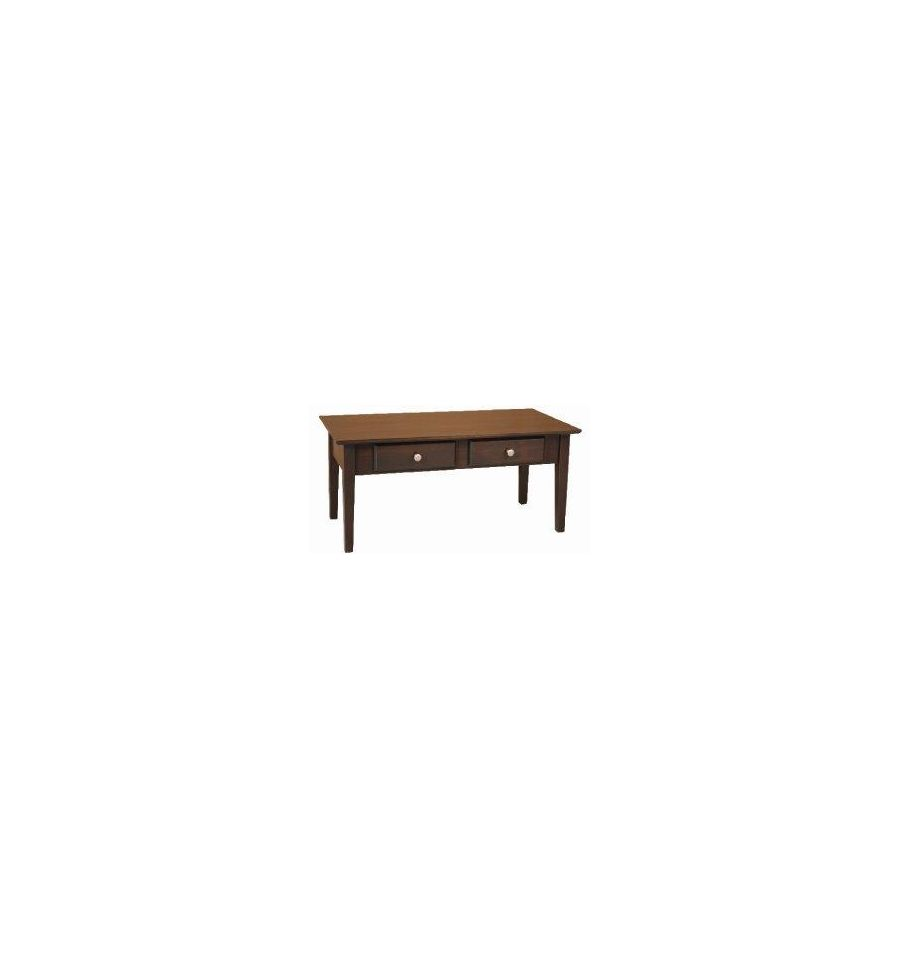 40 Inch Alder Shaker Coffee Table Bare Wood Fine Wood Furniture Groton Ct