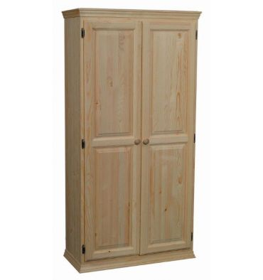 36 Inch Afc 2 Door Pantry 70 H Bare Wood Fine Wood