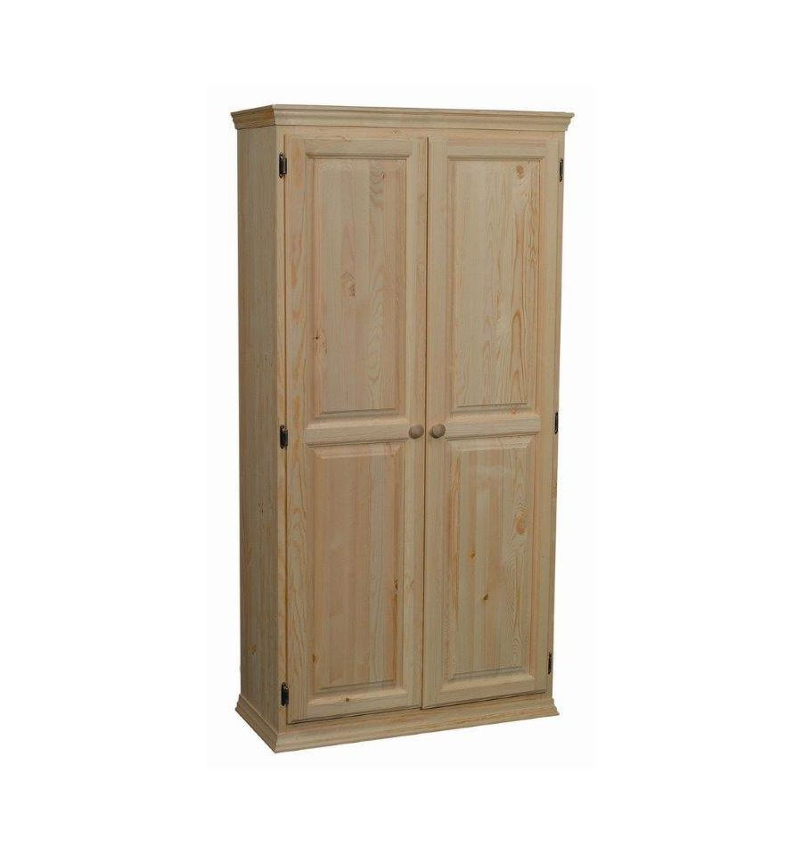 36 Inch Afc 2 Door Pantry 70 H Bare Wood Fine Wood Furniture Groton Ct