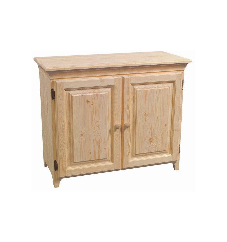 36 Inch Afc 2 Door Console Cabinet Bare Wood Fine Wood