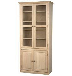 AWB Face Frame Bookcases w Doors - Glass Doors