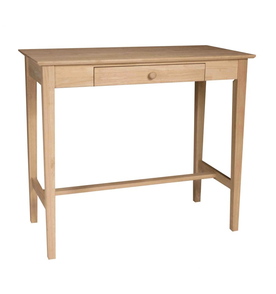 48 Inch] Standing Desk - Bare Wood Fine Wood Furniture | Groton, CT