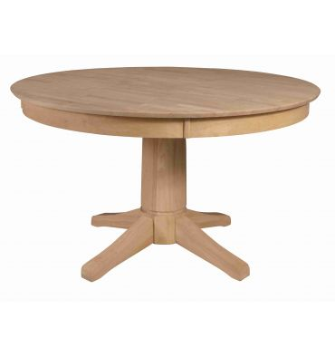Inch Solid Dining Table Bare Wood Fine Wood Furniture Groton CT - 52 inch round outdoor dining table