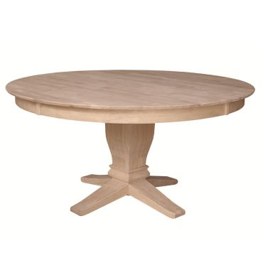 [60 Inch] Solid Dining Table - with T-10B Pedestal