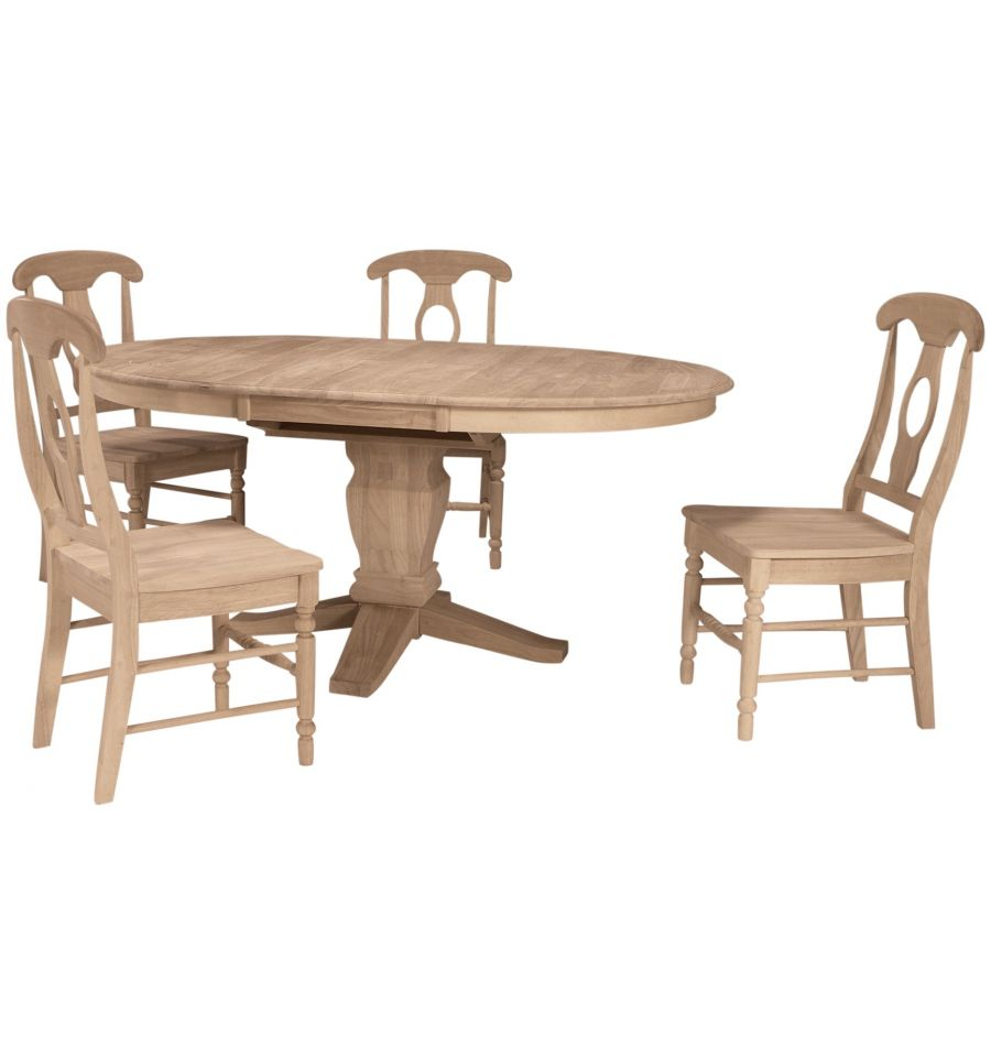 48x48 66 Inch Butterfly Dining Table Bare Wood Fine