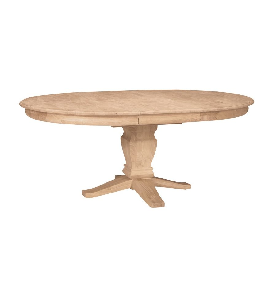 54x54 72 Inch Butterfly Dining Table Bare Wood Fine Wood Furniture