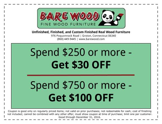Bare Wood Fine Wood Furniture Internet Ad