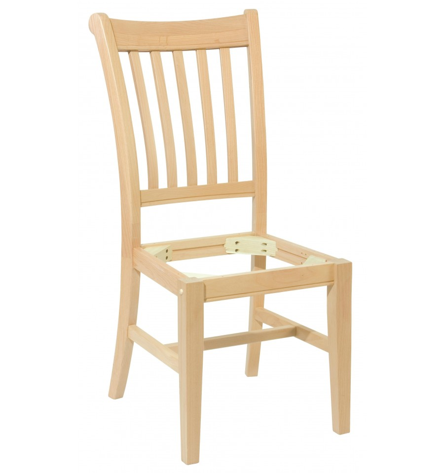 Mission Chair Frames - Bare Wood Fine Wood Furniture  Groton, CT